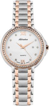 Швейцарские наручные  женские часы Adriatica 3812.R183QZ. Коллекция Zirconia