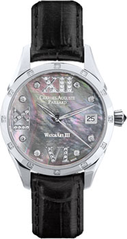 Швейцарские наручные  женские часы Charles Auguste Paillard 400.101.15.13S. Коллекция Watch Art III