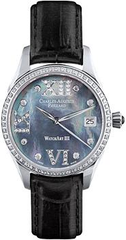 Швейцарские наручные  женские часы Charles Auguste Paillard 400.101.16.13S. Коллекция Watch Art III