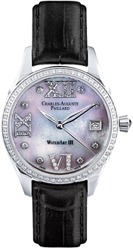 Швейцарские наручные  женские часы Charles Auguste Paillard 400.101.19.13S. Коллекция Watch Art III