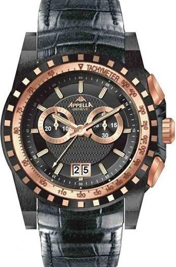Мужские наручные швейцарские часы в коллекции Chronograph Appella