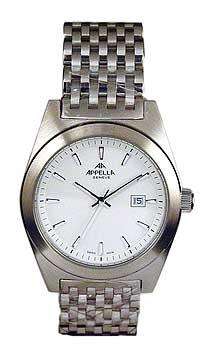 Швейцарские наручные  мужские часы Appella 4111-3001. Коллекция Classic