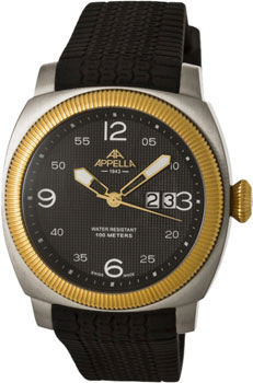 Швейцарские наручные  мужские часы Appella 4193-2014. Коллекция Dress watches