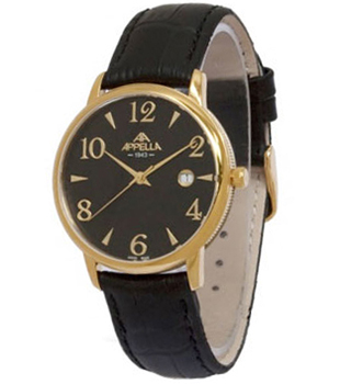 Швейцарские наручные  мужские часы Appella 4303-1014. Коллекция Classic