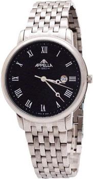 Швейцарские наручные  мужские часы Appella 4305-3004. Коллекция Classic