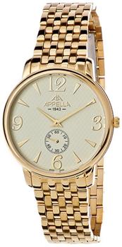 Швейцарские наручные  мужские часы Appella 4307-1002. Коллекция Classic