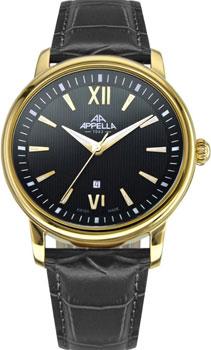 Швейцарские наручные  мужские часы Appella 4335-1014. Коллекция Classic