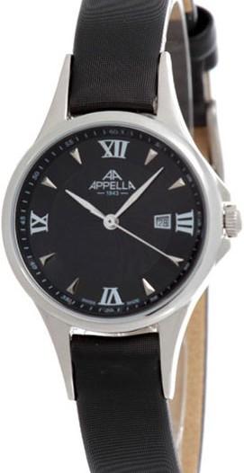 Женские наручные швейцарские часы в коллекции Leather Line Round Appella
