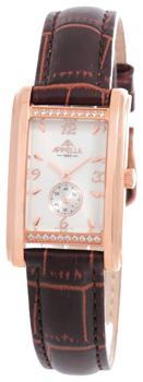 Швейцарские наручные  женские часы Appella 4346A-4011. Коллекция Leather