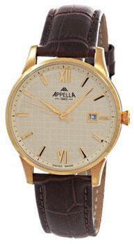 Швейцарские наручные  мужские часы Appella 4361-1012. Коллекция Classic