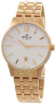 Швейцарские наручные  мужские часы Appella 4363-1001. Коллекция Classic