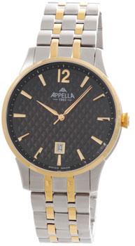 Швейцарские наручные  мужские часы Appella 4363-2004. Коллекция Classic