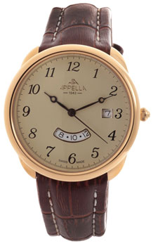 Швейцарские наручные  мужские часы Appella 4365-1012. Коллекция Leather
