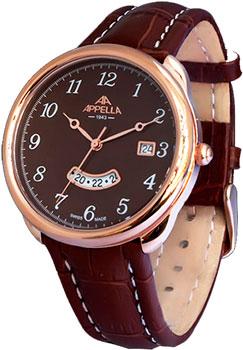 Швейцарские наручные  мужские часы Appella 4365-40115. Коллекция Leather
