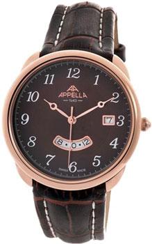 Швейцарские наручные  мужские часы Appella 4365-4014. Коллекция Classic