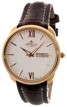 Швейцарские наручные  мужские часы Appella 4367-1011. Коллекция Classic