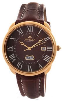 Швейцарские наручные  мужские часы Appella 4369-10115. Коллекция Classic