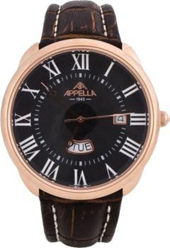 Швейцарские наручные  мужские часы Appella 4369-4014. Коллекция Classic