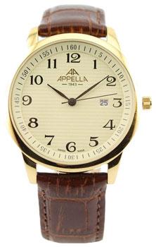 Швейцарские наручные  мужские часы Appella 4371-1012. Коллекция Classic