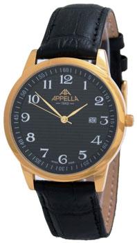 Швейцарские наручные  мужские часы Appella 4371-1014. Коллекция Classic
