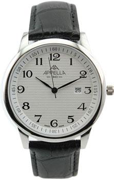 Швейцарские наручные  мужские часы Appella 4371-3011. Коллекция Classic