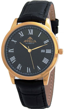 Швейцарские наручные  мужские часы Appella 4373-1014. Коллекция Classic