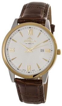 Швейцарские наручные  мужские часы Appella 4375-2011. Коллекция Classic