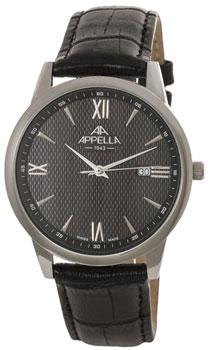 Швейцарские наручные  мужские часы Appella 4375-3014. Коллекция Classic