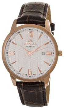 Швейцарские наручные  мужские часы Appella 4375-4011. Коллекция Classic