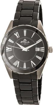 Швейцарские наручные  мужские часы Appella 4377-10004. Коллекция Ceramic