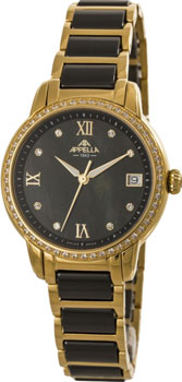Швейцарские наручные  женские часы Appella 4382-9004. Коллекция Ceramic