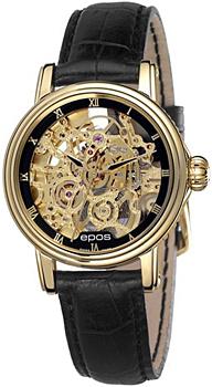 Швейцарские наручные  женские часы Epos 4390.156.22.25.15. Коллекция Ladies