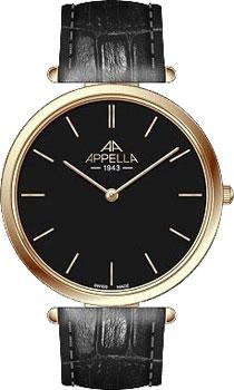 Швейцарские наручные  мужские часы Appella 4397.01.0.1.04. Коллекция Classic