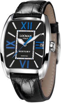 fashion наручные  мужские часы Locman 486N00BKFBL0PSK. Коллекция HISTORY