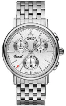 Швейцарские наручные  мужские часы Atlantic 50446.41.21. Коллекция Seacrest