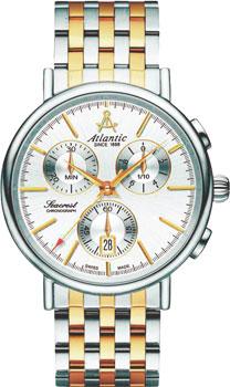 Швейцарские наручные  мужские часы Atlantic 50446.43.21. Коллекция Seacrest