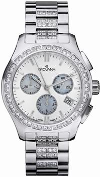 Швейцарские наручные  женские часы Grovana 5096.9735. Коллекция Chrono