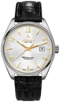 Швейцарские наручные  мужские часы Atlantic 51752.41.25G. Коллекция Worldmaster