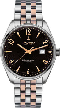 Швейцарские наручные  мужские часы Atlantic 51752.41.65RM. Коллекция Worldmaster