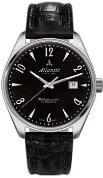 Швейцарские наручные  мужские часы Atlantic 51752.41.65S. Коллекция Worldmaster