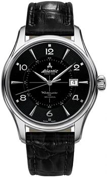 Швейцарские наручные  мужские часы Atlantic 52652.41.65S. Коллекция Worldmaster