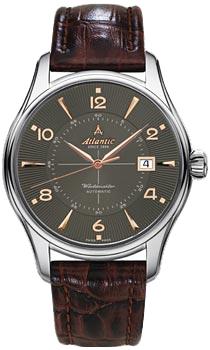 Швейцарские наручные  мужские часы Atlantic 52752.41.45R. Коллекция Worldmaster