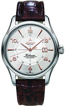 Швейцарские наручные  мужские часы Atlantic 52753.41.25R. Коллекция Worldmaster