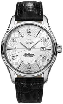 Швейцарские наручные  мужские часы Atlantic 52753.41.25S. Коллекция Worldmaster
