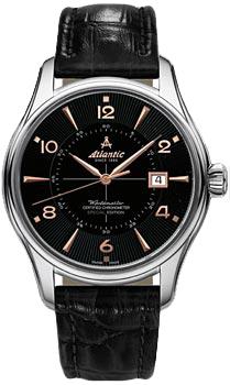 Швейцарские наручные  мужские часы Atlantic 52753.41.65R. Коллекция Worldmaster