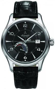 Швейцарские наручные  мужские часы Atlantic 52755.41.65S. Коллекция Worldmaster