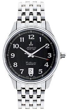 Швейцарские наручные  мужские часы Atlantic 52756.41.63. Коллекция Worldmaster