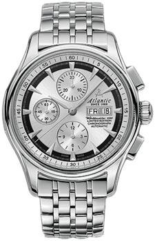 Швейцарские наручные  мужские часы Atlantic 52850.41.21SM. Коллекция Worldmaster