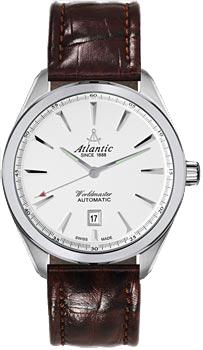 Швейцарские наручные  мужские часы Atlantic 53750.41.21. Коллекция Worldmaster