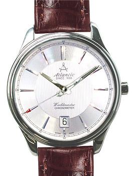 Швейцарские наручные  мужские часы Atlantic 53751.41.21. Коллекция Worldmaster